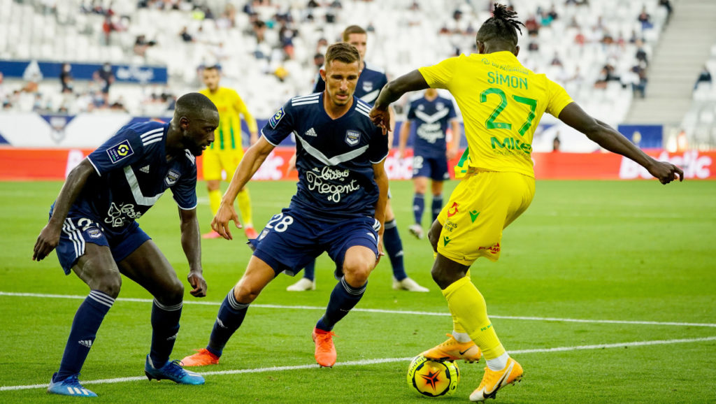 Bordeaux-Nantes, le premier match de la saison de Ligue 1, disputé devant quelques milliers de spectateurs. [RMC Sport]