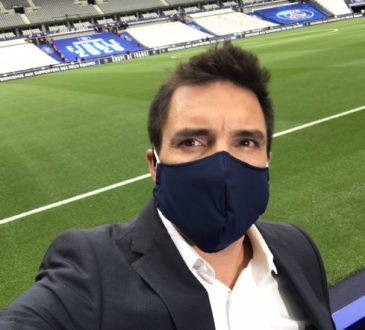 Fabien Lévêque avant PSG/ASSE. [@FabLeveque/Twitter]