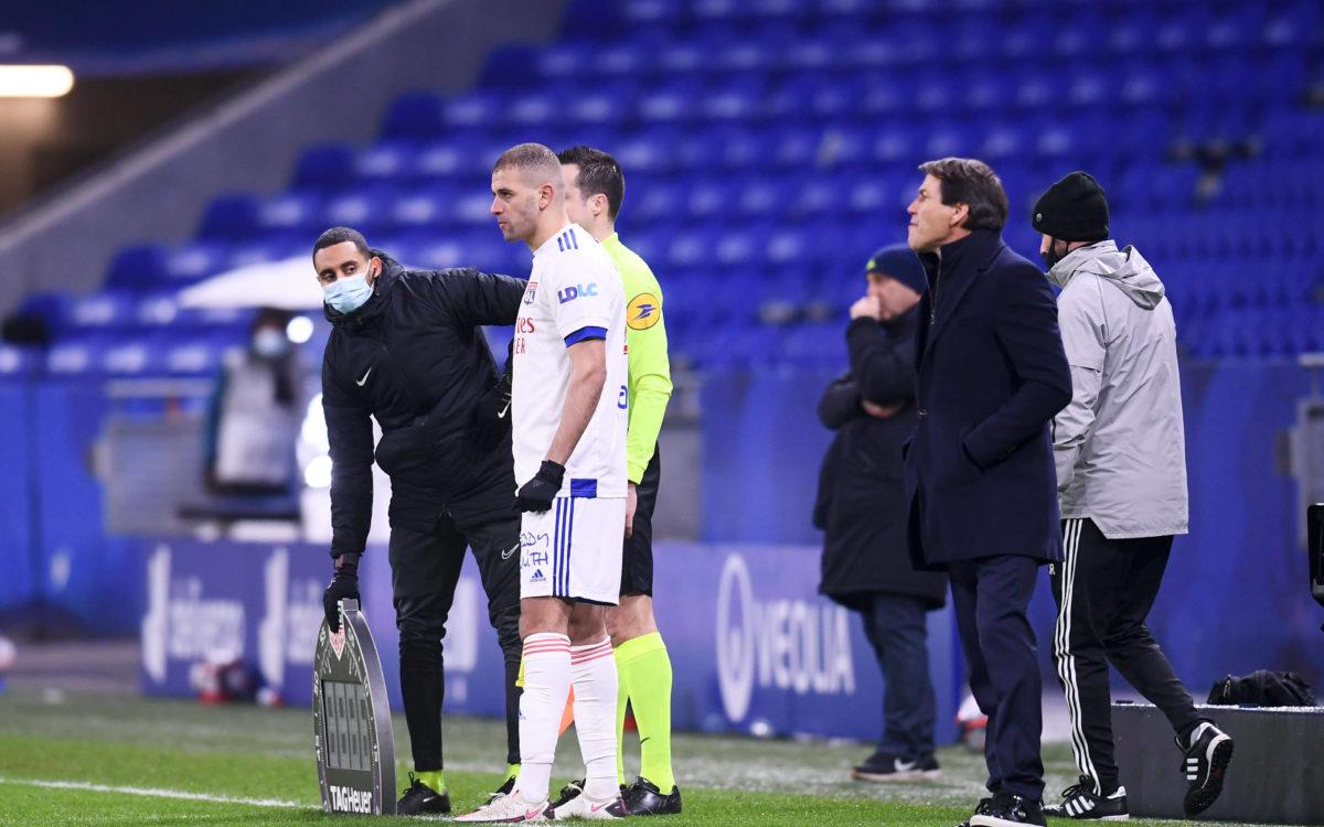 Islam Slimani a disputé dimanche soir ses premières minutes de jeu avec l'OL. [Imago/One Football]